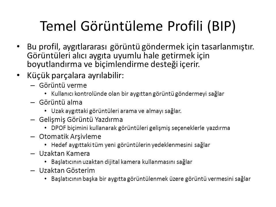 Temel Görüntüleme Profili (BIP)