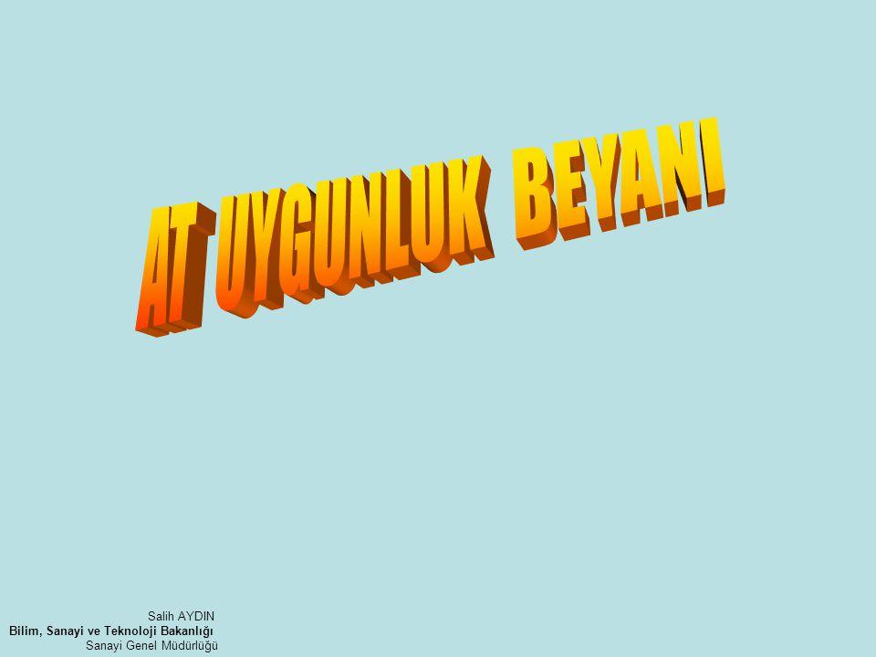 AT UYGUNLUK BEYANI Salih AYDIN