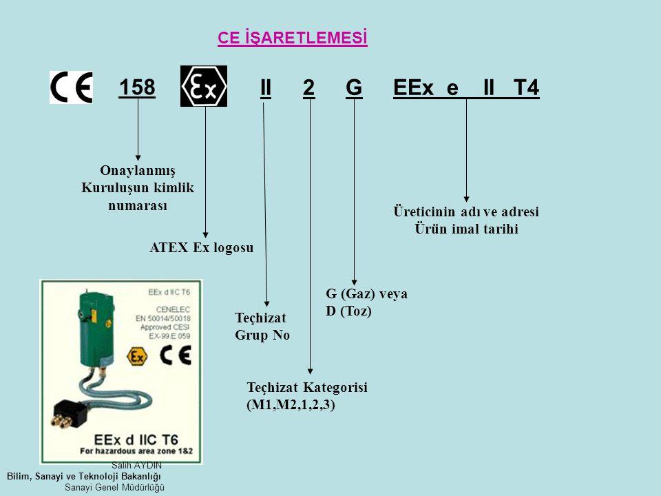 II 2 G EEx e II T4 158 CE İŞARETLEMESİ