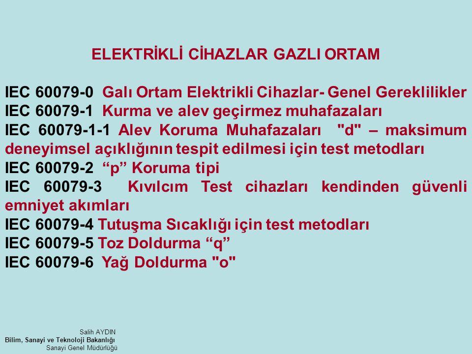 ELEKTRİKLİ CİHAZLAR GAZLI ORTAM