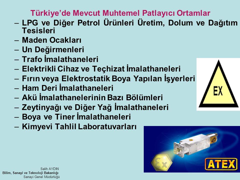 Türkiye'de Mevcut Muhtemel Patlayıcı Ortamlar