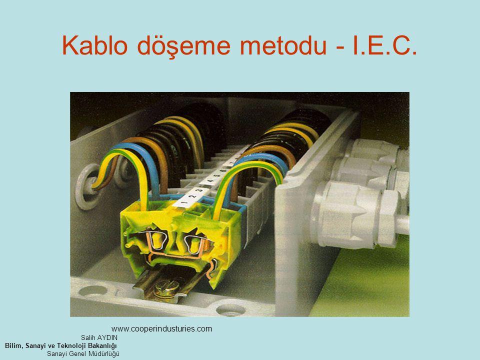 Kablo döşeme metodu - I.E.C.