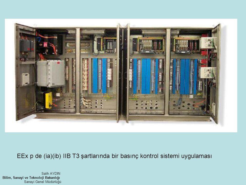 EEx p de (ia)(ib) IIB T3 şartlarında bir basınç kontrol sistemi uygulaması