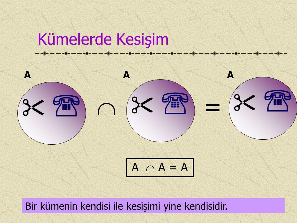        = Kümelerde Kesişim A  A = A A A A