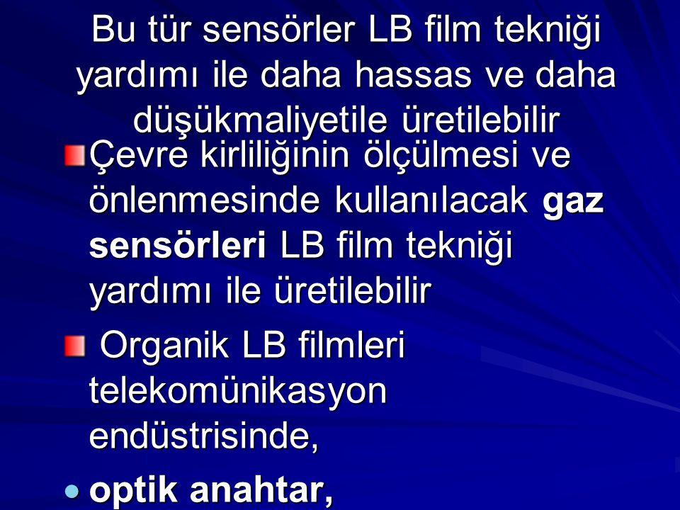 Bu tür sensörler LB film tekniği yardımı ile daha hassas ve daha düşükmaliyetile üretilebilir