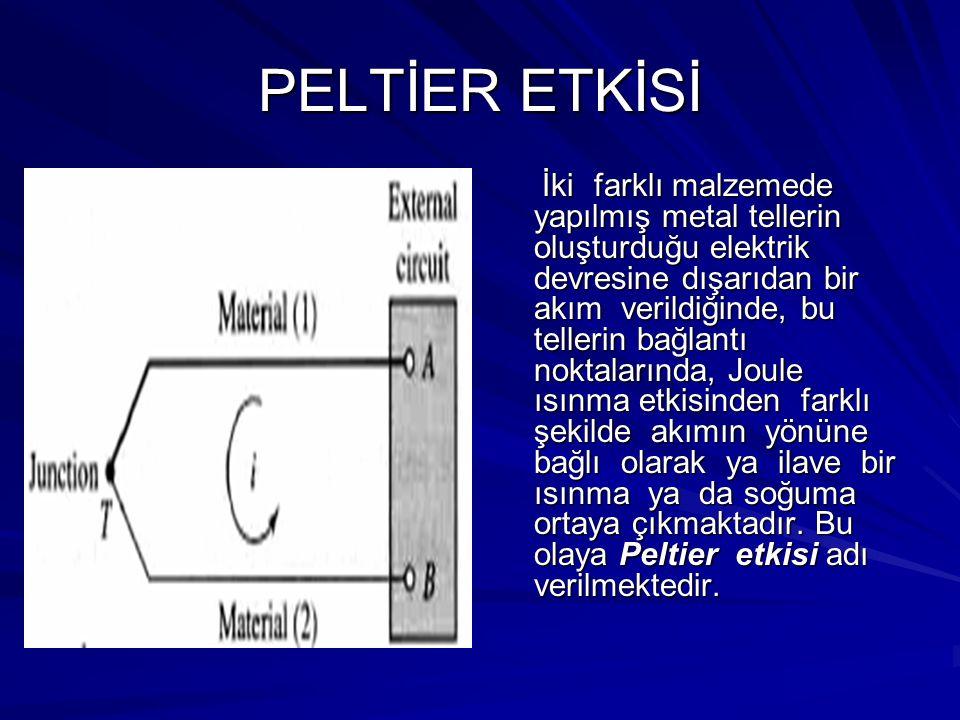 PELTİER ETKİSİ