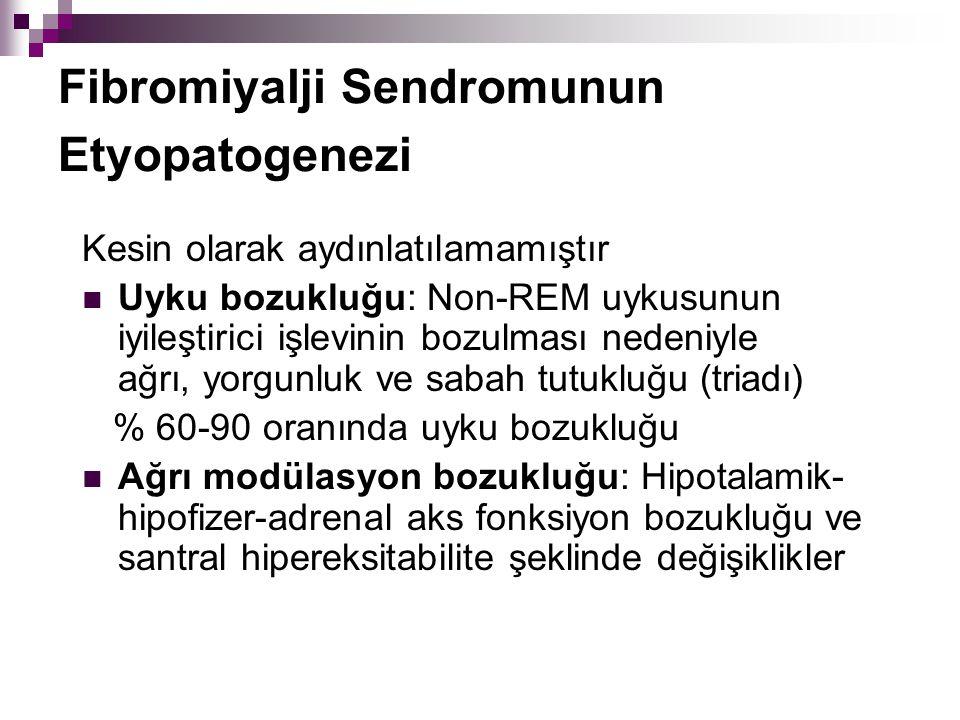 Fibromiyalji Sendromunun Etyopatogenezi