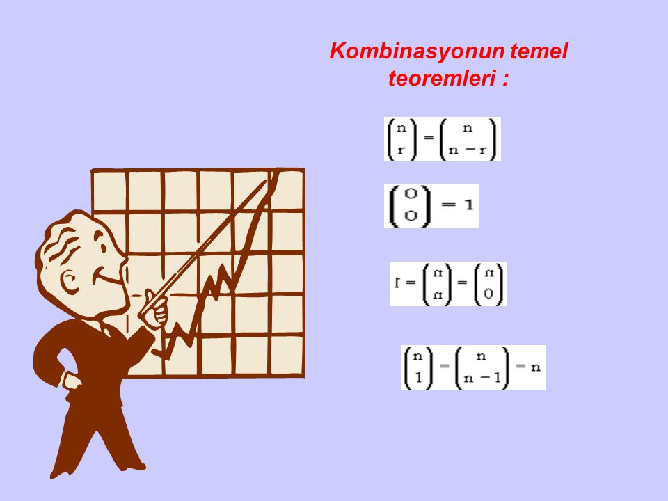 Kombinasyonun temel teoremleri :