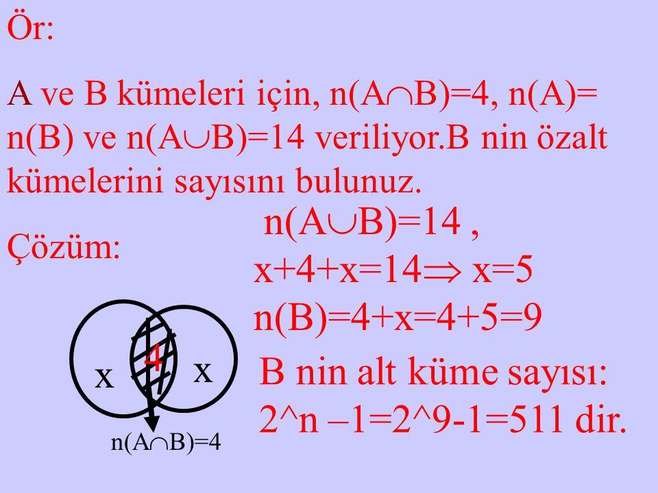 n(AB)=14 , x+4+x=14 x=5 n(B)=4+x=4+5=9