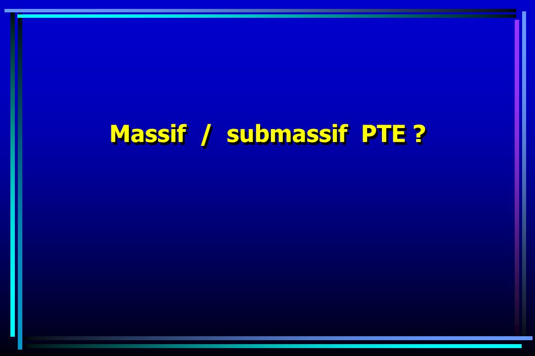 Massif / submassif PTE