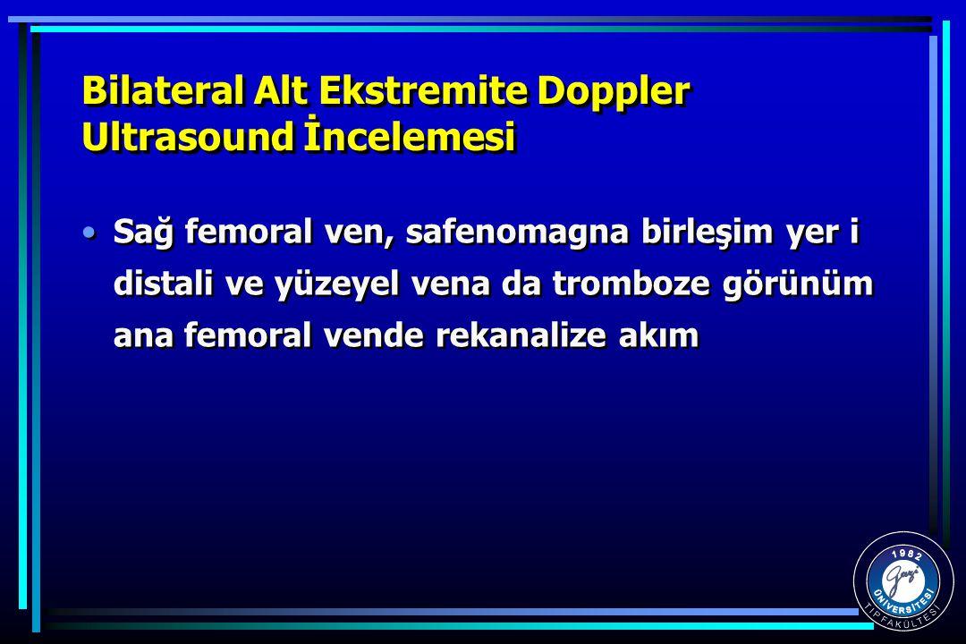 Bilateral Alt Ekstremite Doppler Ultrasound İncelemesi