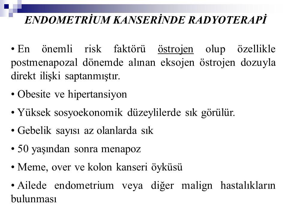 ENDOMETRİUM KANSERİNDE RADYOTERAPİ