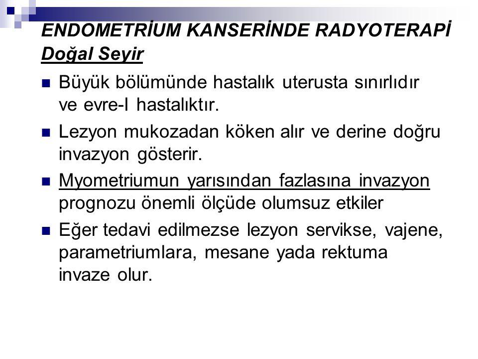 ENDOMETRİUM KANSERİNDE RADYOTERAPİ Doğal Seyir
