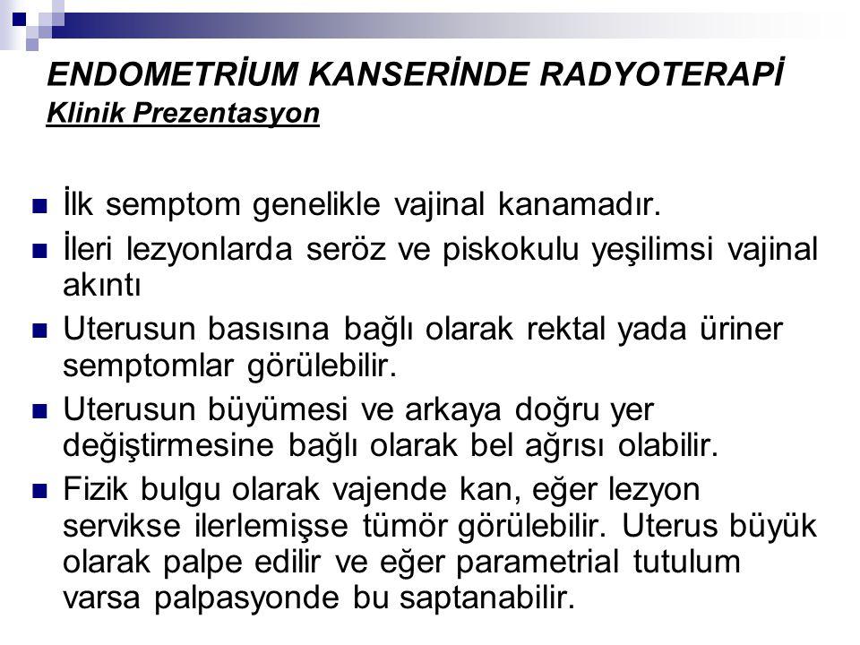 ENDOMETRİUM KANSERİNDE RADYOTERAPİ Klinik Prezentasyon