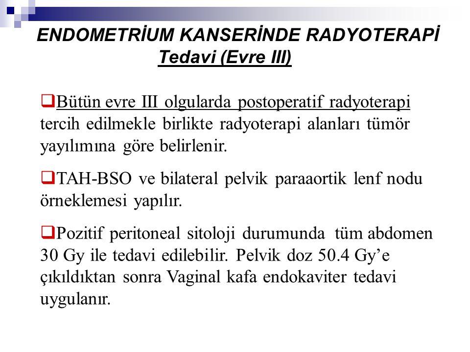 ENDOMETRİUM KANSERİNDE RADYOTERAPİ Tedavi (Evre III)