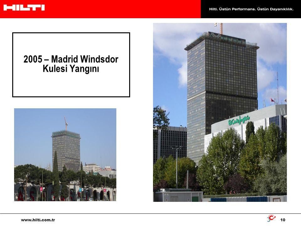 2005 – Madrid Windsdor Kulesi Yangını