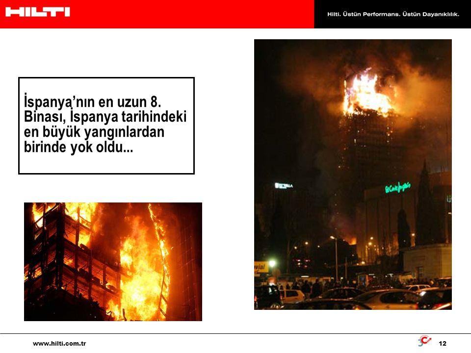 İspanya'nın en uzun 8. Binası, İspanya tarihindeki en büyük yangınlardan birinde yok oldu...
