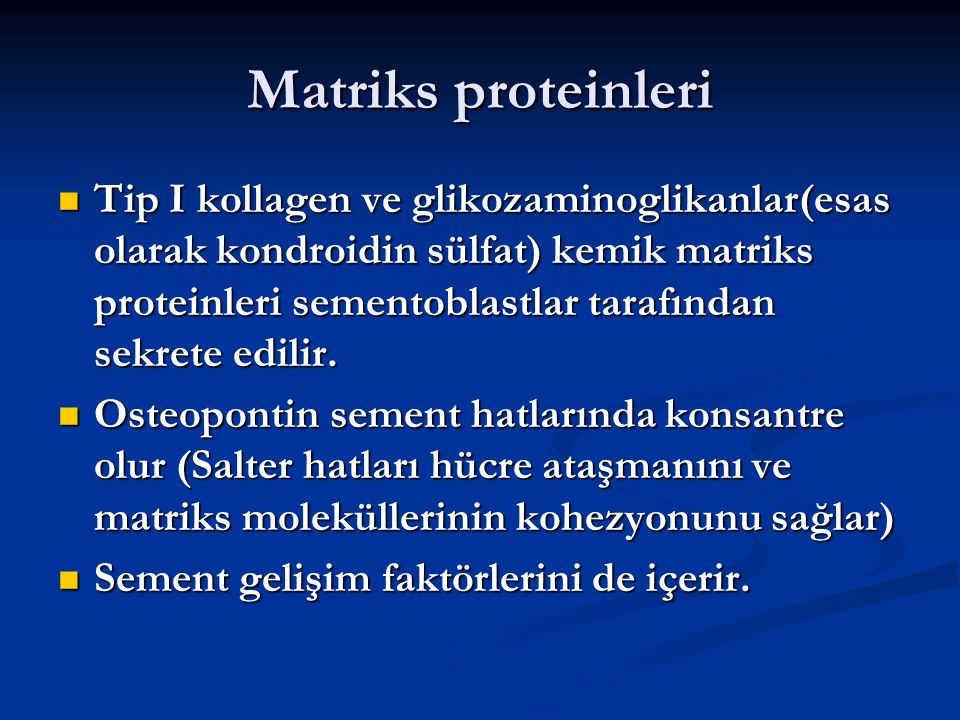 Matriks proteinleri
