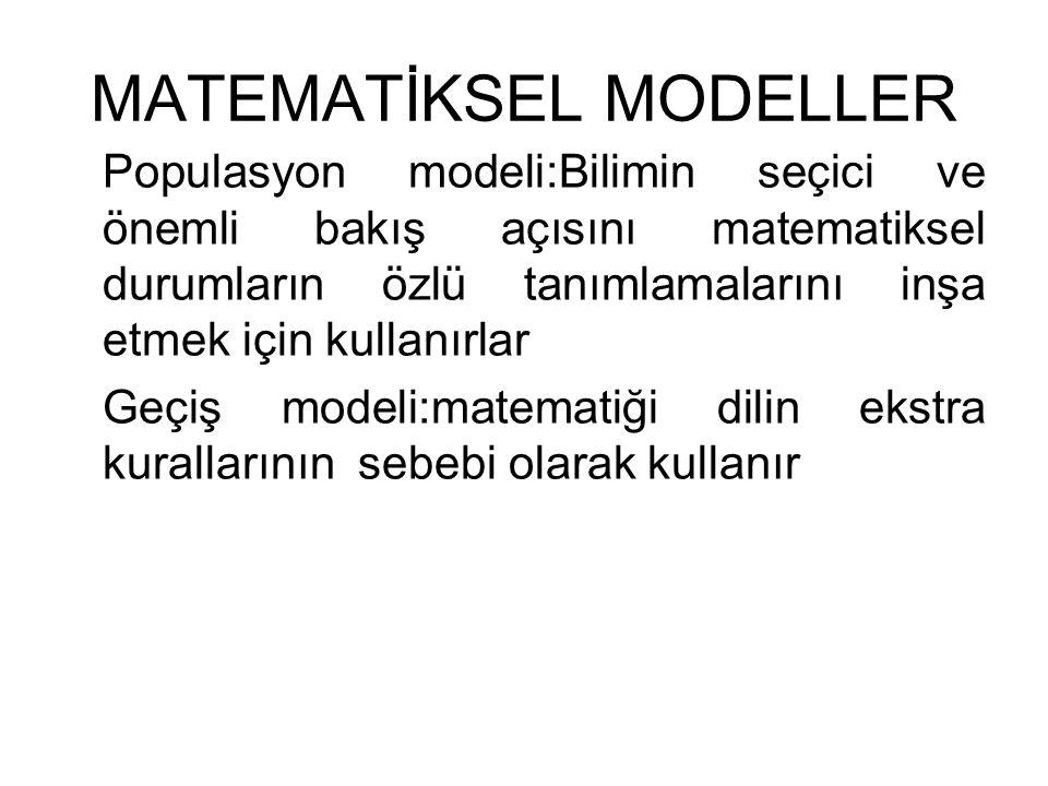 MATEMATİKSEL MODELLER