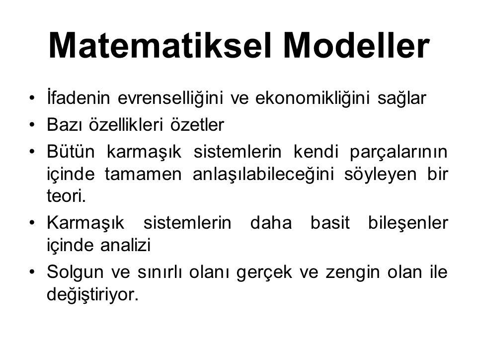 Matematiksel Modeller