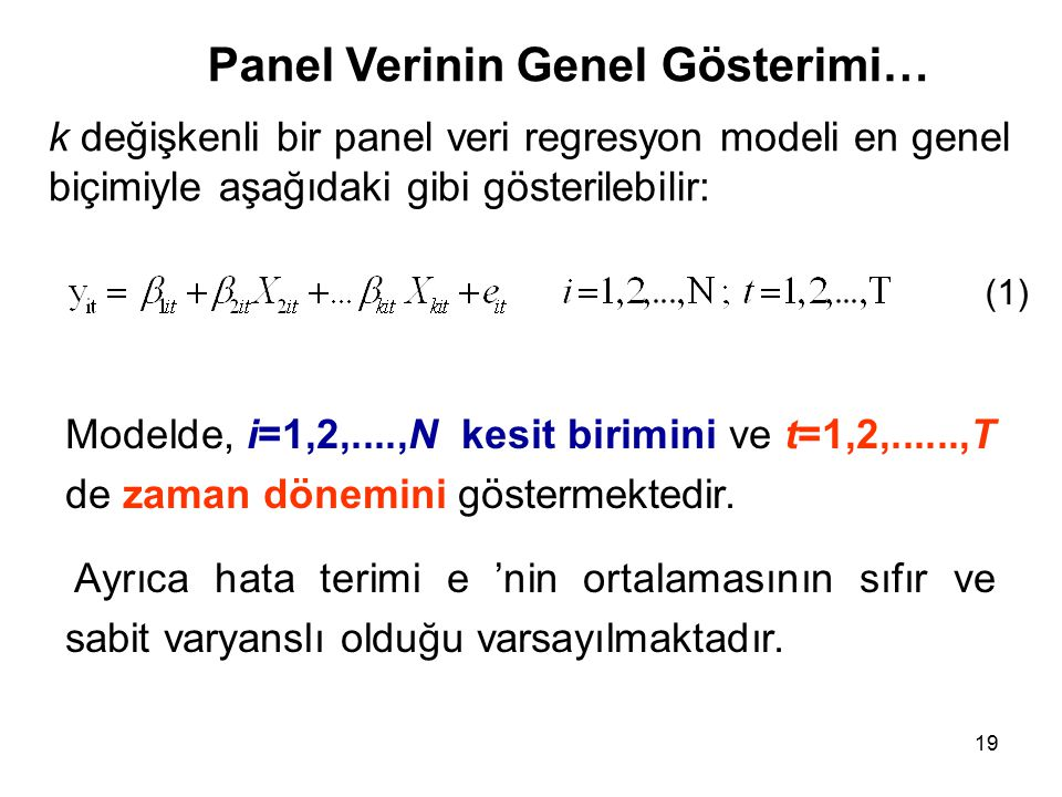 Panel Verinin Genel Gösterimi…