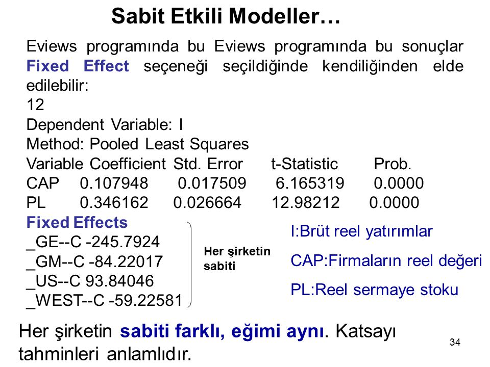 Sabit Etkili Modeller…
