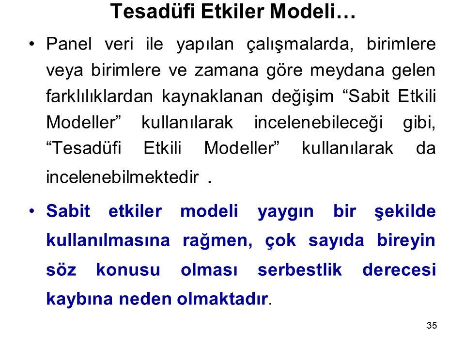 Tesadüfi Etkiler Modeli…