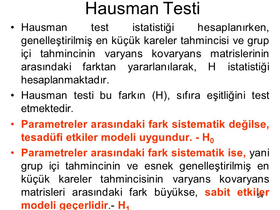Hausman Testi