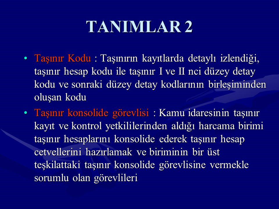 TANIMLAR 2
