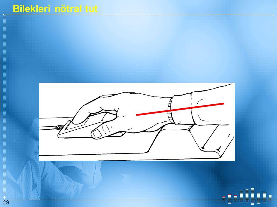Bilekleri nötral tut Several ways to think about wrist posture:
