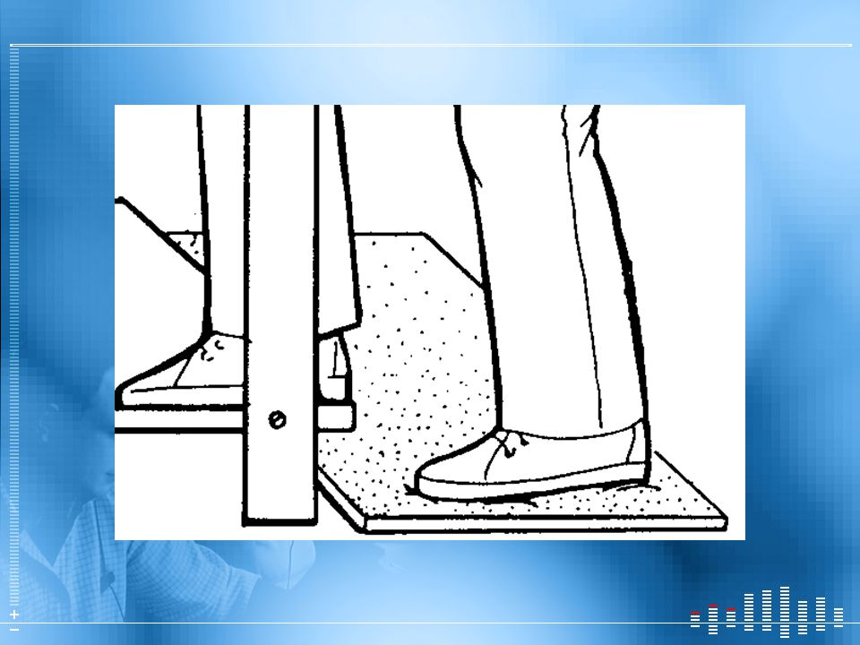 Standing on hard surface, like concrete, creates pressure point on your feet.