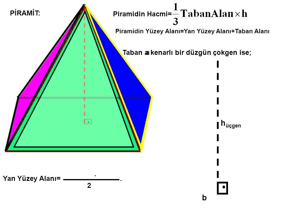 hüçgen b PİRAMİT: Piramidin Hacmi=