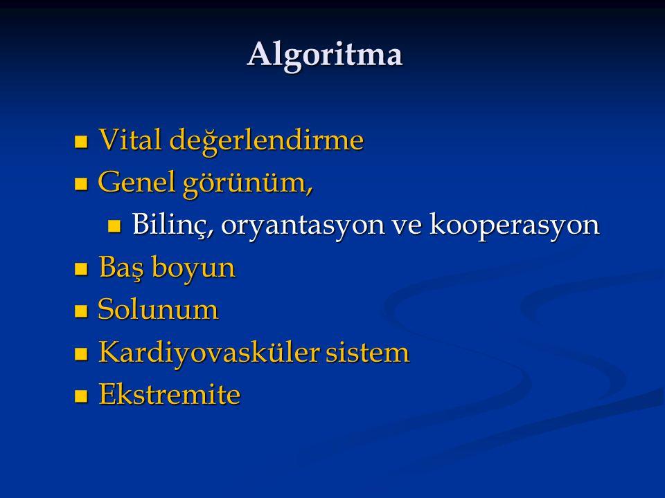 Algoritma Vital değerlendirme Genel görünüm,