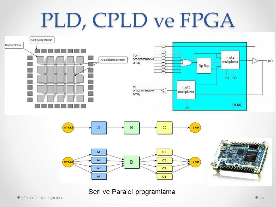 PLD, CPLD ve FPGA Seri ve Paralel programlama Mikrodenetleyiciler