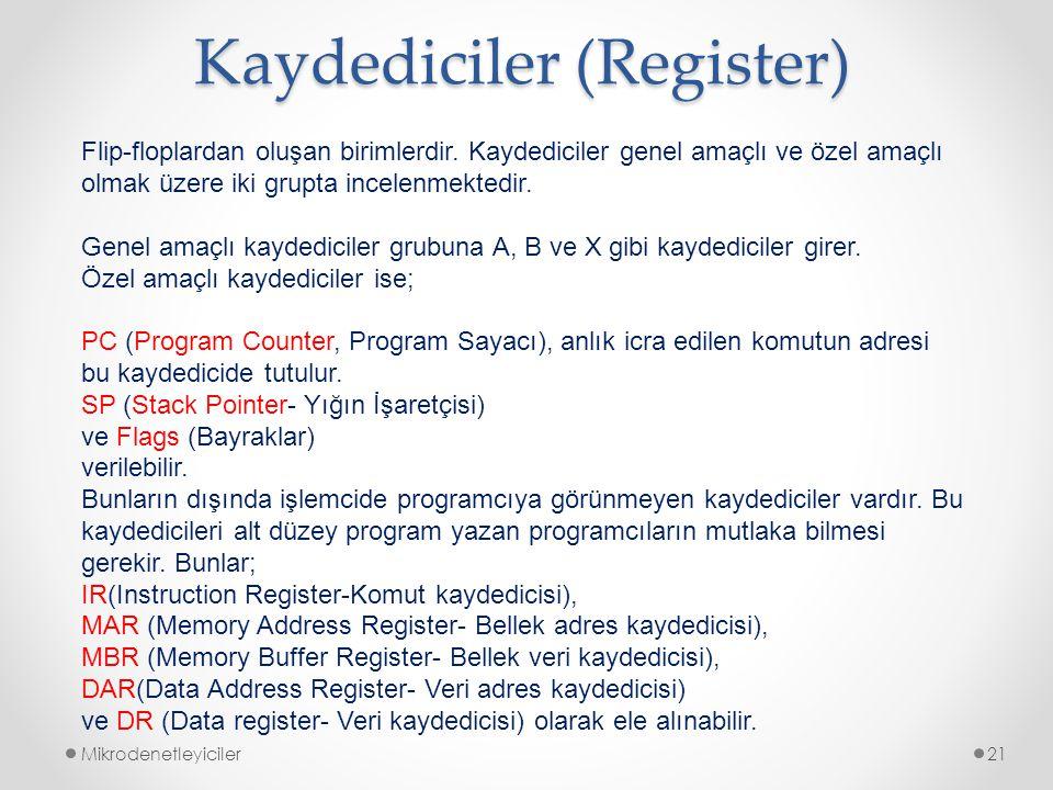 Kaydediciler (Register)