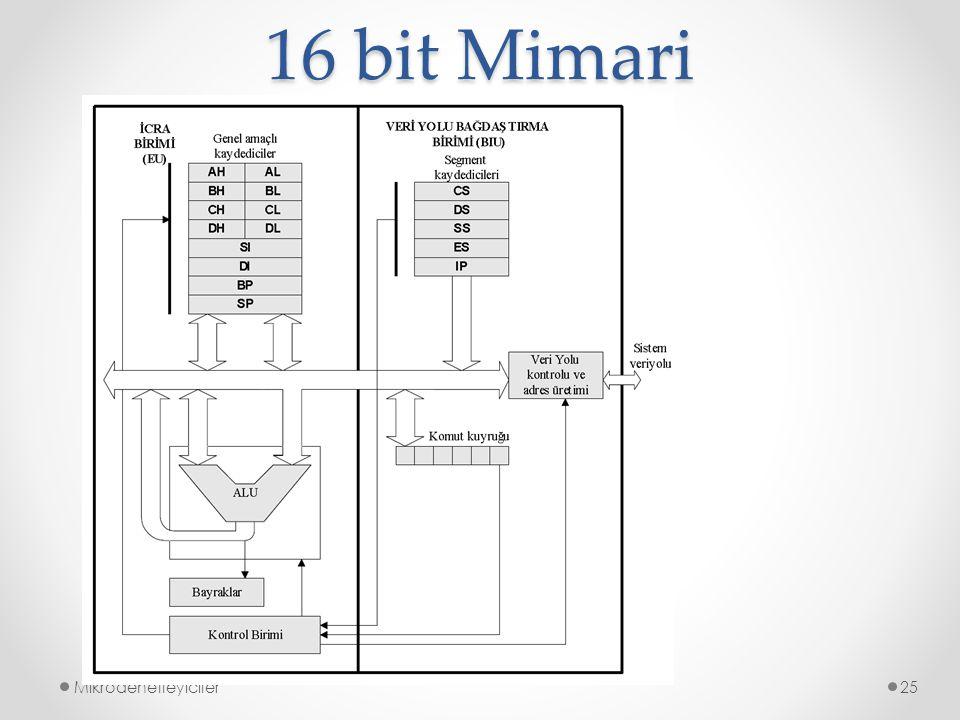 16 bit Mimari Mikrodenetleyiciler