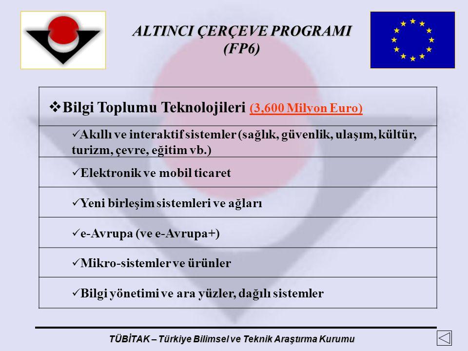 Bilgi Toplumu Teknolojileri (3,600 Milyon Euro)