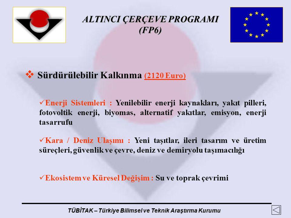 Sürdürülebilir Kalkınma (2120 Euro)