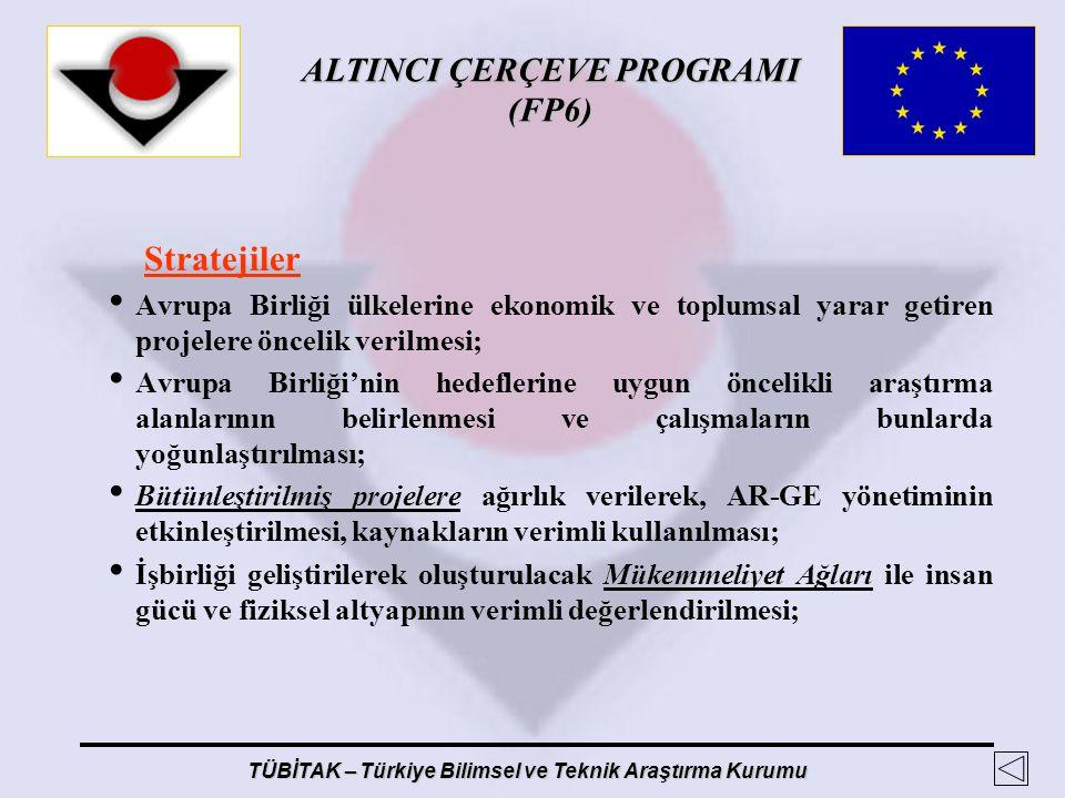 Stratejiler Avrupa Birliği ülkelerine ekonomik ve toplumsal yarar getiren projelere öncelik verilmesi;