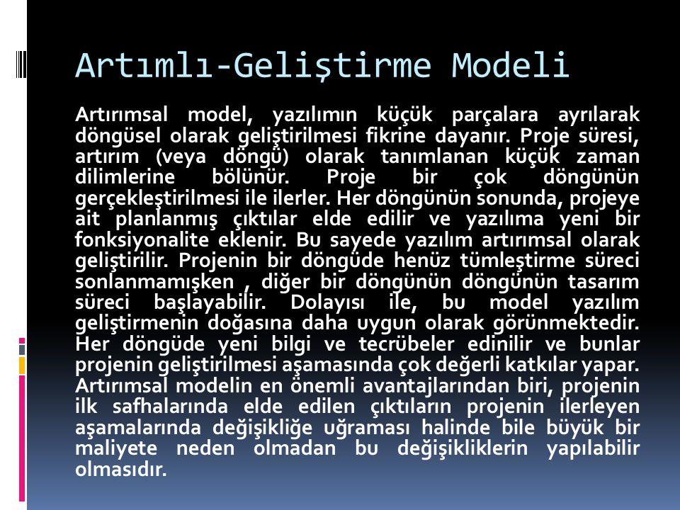 Artımlı-Geliştirme Modeli
