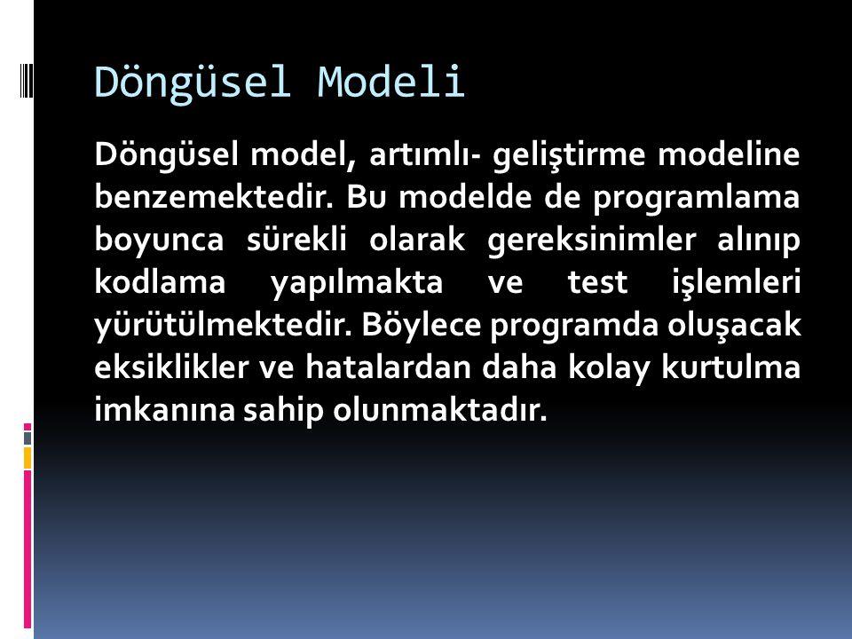 Döngüsel Modeli