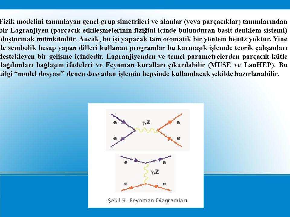 Fizik modelini tanımlayan genel grup simetrileri ve alanlar (veya parçacıklar) tanımlarından bir Lagranjiyen (parçacık etkileşmelerinin fiziğini içinde bulunduran basit denklem sistemi) oluşturmak mümkündür.