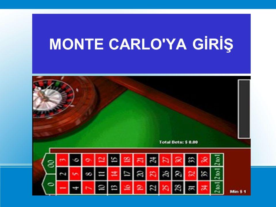 MONTE CARLO YA GİRİŞ