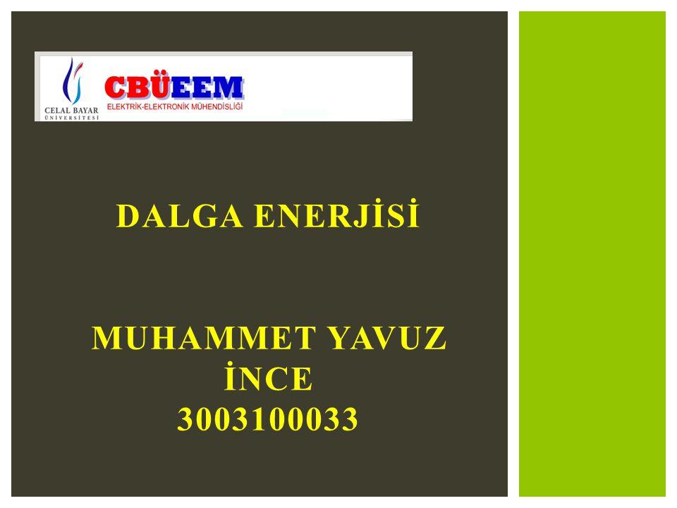 Dalga enerjİSİ MUHAMMET YAVUZ İNCE 3003100033