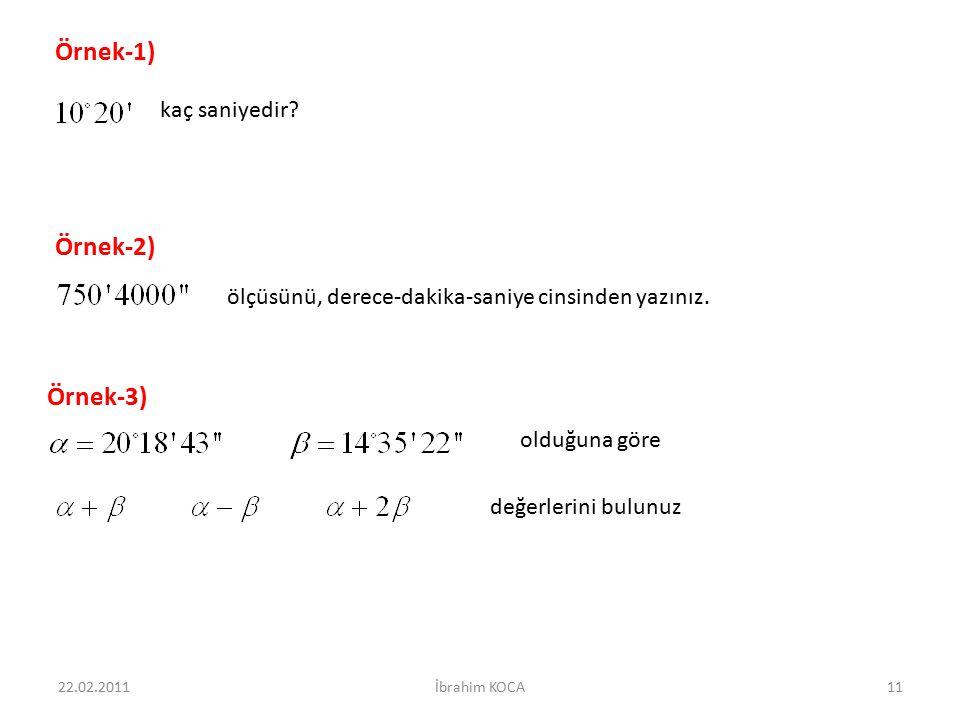 Örnek-1) Örnek-2) Örnek-3) kaç saniyedir