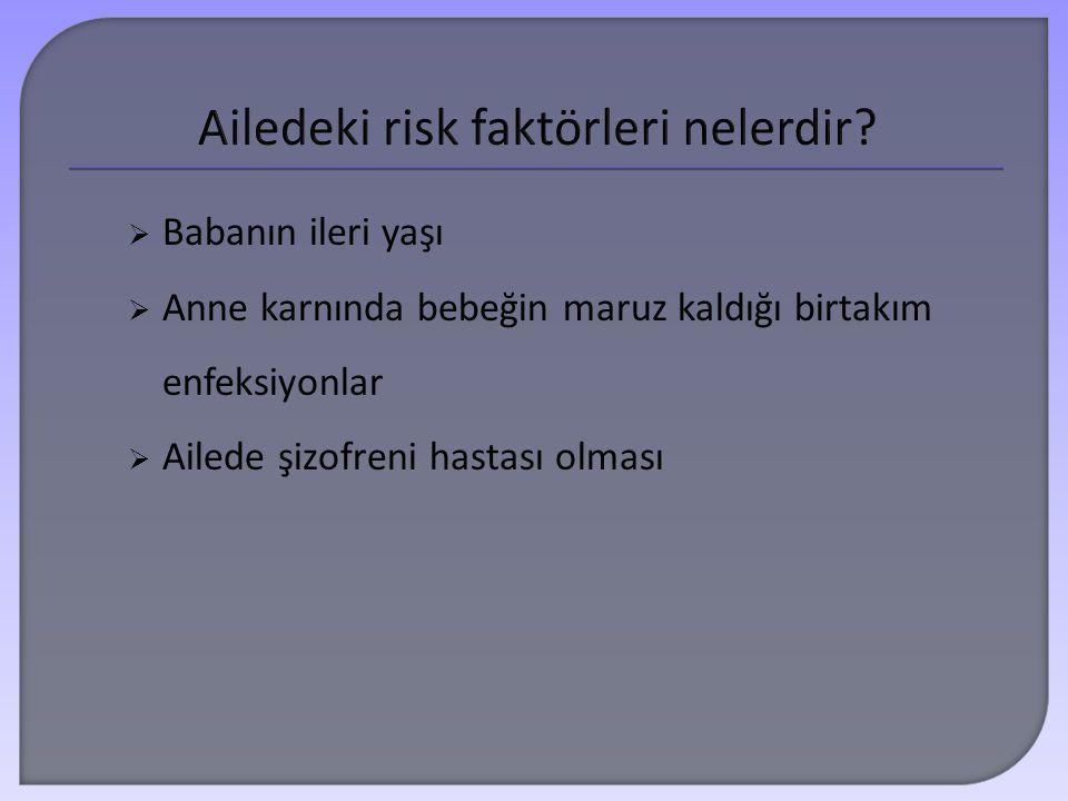 Ailedeki risk faktörleri nelerdir