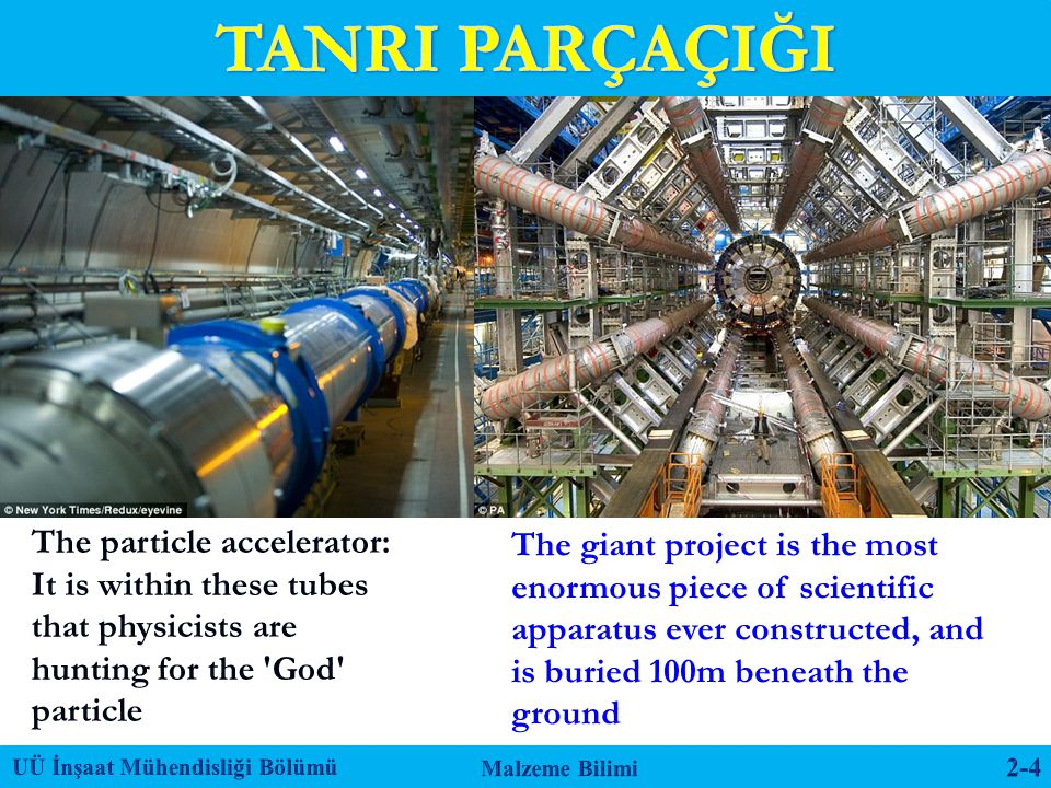 TANRI PARÇAÇIĞI The particle accelerator: It is within these tubes that physicists are hunting for the God particle.