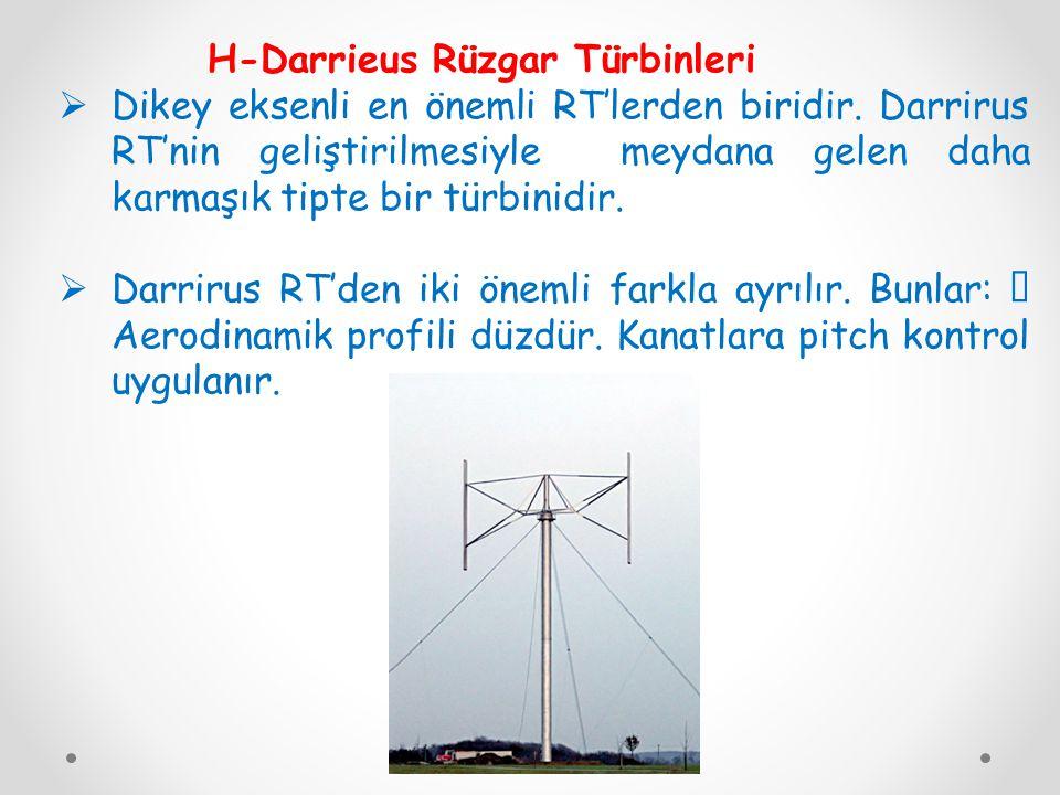 H-Darrieus Rüzgar Türbinleri