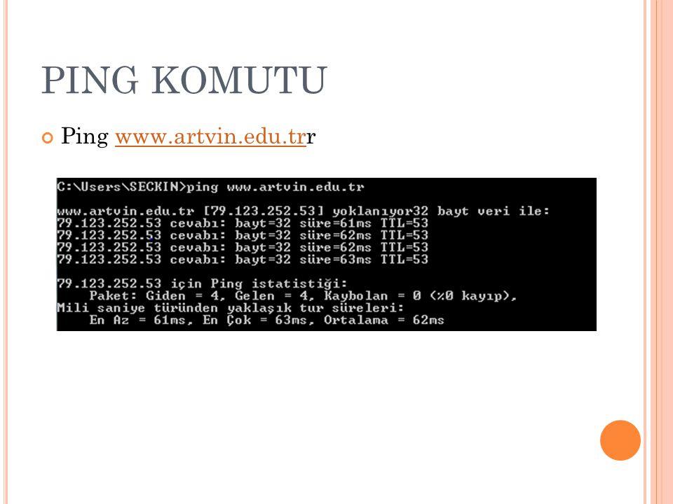 PING KOMUTU Ping www.artvin.edu.trr