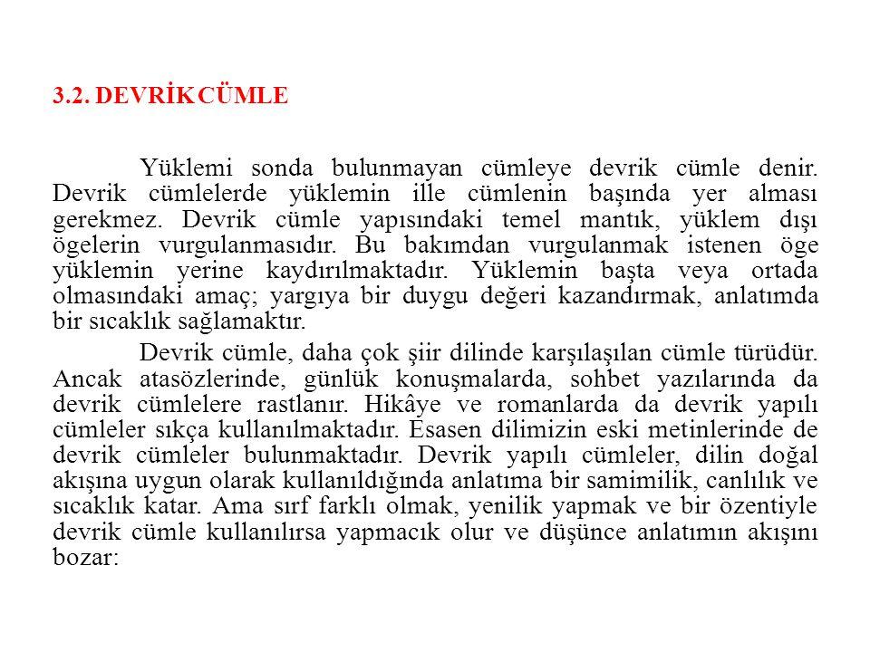 3.2. DEVRİK CÜMLE